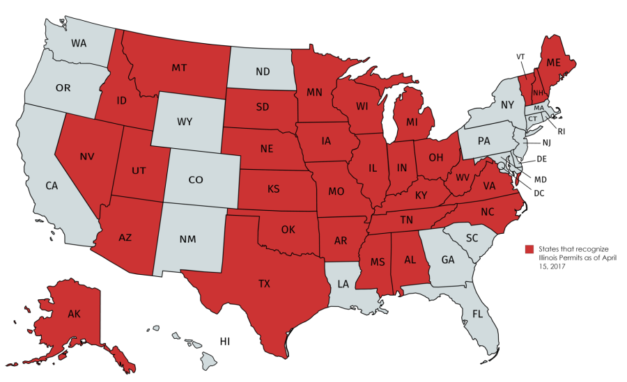 CRITICAL DECISION - Illinois' Premier Concealed Firearm ... on concealed carry map, indiana gun permit map, carry permit state map, west states map, reciprocity map, wwe states map, germany states map, persian gulf states map, eastern us states map, right to work states map, sw states map, great lakes states map, pa reciprocal states map, northwest states map, iran states map, cal states map, shall issue states map, original 13 states map, concealed permit map, ne states map,